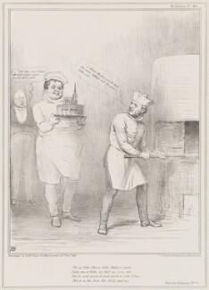 Nursery Rhymes No. 3 (King William IV; Daniel O'Connell; William Lamb, 2nd Viscount Melbourne), by John ('HB') Doyle, printed by  Alfred Ducôte, published by  Thomas McLean - NPG D41395