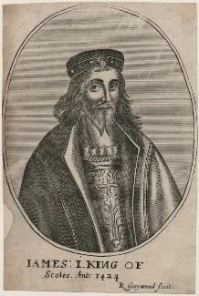 James I of Scotland, by Richard Gaywood, published 1681 (circa 1655) - NPG D42370 - © National Portrait Gallery, London