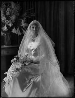 Hon. Anna Vavasseur Clark (née Fisher), by Bassano Ltd - NPG x158262