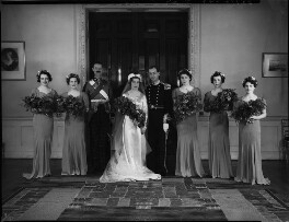 Hon. Neville Napier; Eileen Napier (née Thorne) with wedding party, by Bassano Ltd - NPG x158266