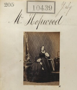 Mary Augusta Henrietta Hopwood (née Coventry), by Camille Silvy - NPG Ax60153