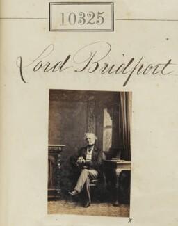 Samuel Hood, 2nd Baron Bridport, by Camille Silvy - NPG Ax60039