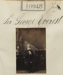 Sir George Everest, by Camille Silvy - NPG Ax60654