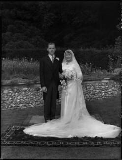 Hon. Anna Vavasseur Clark (née Fisher); Thomas Williams Clark, by Bassano Ltd - NPG x158310