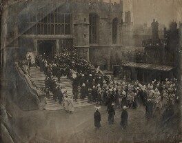The Funeral Procession of Queen Victoria entering St George's Chapel, Windsor, by James Russell & Sons - NPG x8894