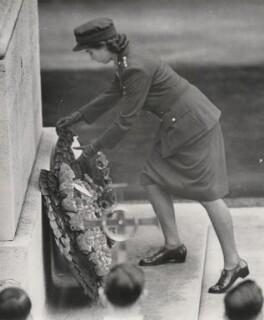 Queen Elizabeth II, by Joe Waldorf, for  International News Photos - NPG x136396