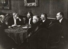 Max Planck; Ramsay MacDonald; Albert Einstein; Hermann Dietrich; Hermann Schmitz; Julius Curtius, by Erich Salomon - NPG P1699