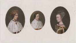 James III of Scotland; James IV of Scotland; Margaret of Denmark, after Hugo van der Goes - NPG D42378