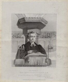 Francis Close, printed by Day & Son, published by  George F. Bonner, after  Unknown artist - NPG D42444