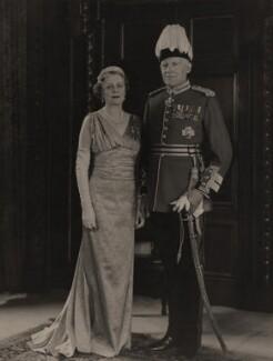 Sir Edwin Logie Morris; Amy Mary (née Booth), Lady Morris, by Hay Wrightson Ltd - NPG x180939