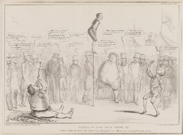Going to the Fair with it, by John ('HB') Doyle, printed by  Alfred Ducôte, published by  Thomas McLean, published 30 March 1837 - NPG D41411 - © National Portrait Gallery, London