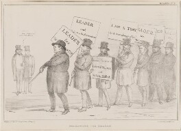 Following the Leader, by John ('HB') Doyle, printed by  Alfred Ducôte, published by  Thomas McLean - NPG D41416