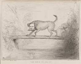 The Dog & the Shadow (Sir Francis Burdett, 5th Bt; John Temple Leader), by John ('HB') Doyle, printed by  Alfred Ducôte, published by  Thomas McLean - NPG D41418