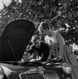 Shirley Eaton; Colin Lenton-Rowe, by Bob Collins - NPG x136445