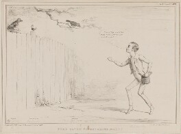 Bird Catching Extraordinary! (Thomas Wakley; John Arthur Roebuck; Joseph Hume, John Russell, 1st Earl Russell), by John ('HB') Doyle, printed by  Alfred Ducôte, published by  Thomas McLean - NPG D41424