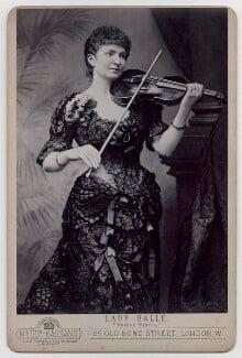 Wilma Norman-Neruda, by Alexander Bassano, 1885 - NPG x136473 - © National Portrait Gallery, London