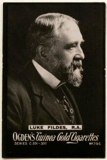 Luke Fildes, by Elliott & Fry, or by  E.H. Mills, published by  Ogden's - NPG x136475