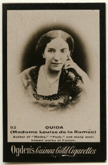 Ouida (Marie Louise de la Ramée), by Elliott & Fry, published by  Ogden's - NPG x136478
