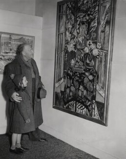 Sir Jacob Epstein; Judith Lade, by Unknown photographer, for  Keystone Press Agency Ltd, 4 March 1952 - NPG x136479 - © Keystone Press Agency Ltd