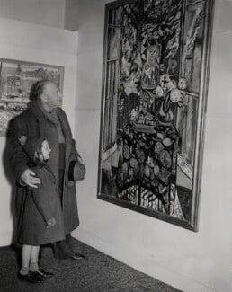 Sir Jacob Epstein; Judith Lade, by Unknown photographer, for  Keystone Press Agency Ltd, 4 March 1952 - NPG x136479 - © Keystone Press Agency Ltd