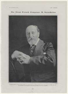 Camille Saint-Saëns, by Ernest Walter Histed - NPG x136501