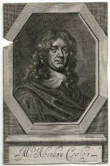 Abraham Cowley, by William Faithorne, after  Sir Peter Lely - NPG D42466