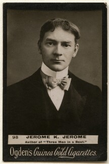 Jerome Klapka Jerome, published by Ogden's, published circa 1894-1907 - NPG x136534 - © National Portrait Gallery, London