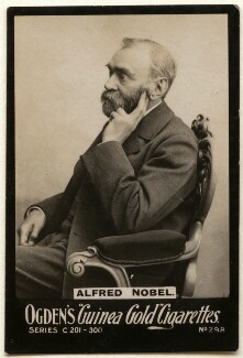 Alfred Bernhard Nobel, by Gösta Florman, published by  Ogden's - NPG x136539
