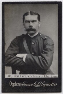 Herbert Kitchener, 1st Earl Kitchener, by Elliott & Fry, published by  Ogden's - NPG x136566