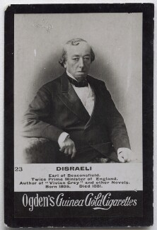 Benjamin Disraeli, Earl of Beaconsfield, possibly by (Cornelius) Jabez Hughes, published by  Ogden's - NPG x136569