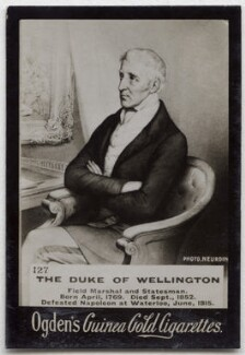 Arthur Wellesley, 1st Duke of Wellington, by Etienne Neurdein, after  Unknown artist, published by  Ogden's - NPG x136570