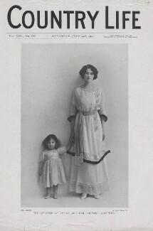 Pamela Bulwer-Lytton (née Chichele-Plowden), Countess of Lytton; Davina Katharine Woodhouse (née Bulwer-Lytton), by Rita Martin - NPG x136578