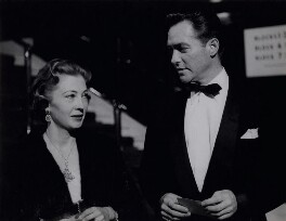 Richard Todd; Catherine Stewart Crawford Todd (née Grant-Bogle), by Bob Collins, 1956 - NPG x136593 - © estate of Bob Collins / National Portrait Gallery, London