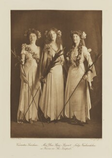 Group in fancy dress for the Shakespeare Memorial National Theatre Ball, by Langfier Ltd, published by  Hudson & Kearns Ltd - NPG Ax135776