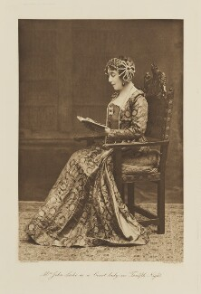 Leonie Blanche (née Jerome), Lady Leslie as a Court Lady in 'Twelfth Night', by Langfier Ltd, published by  Hudson & Kearns Ltd, 20 June 1911, published 1912 - NPG  - © National Portrait Gallery, London
