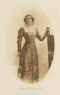 Lady Beatrice Frances Elizabeth Pole-Carew (née Butler) as Portia in 'The Merchant of Venice', by Lallie Charles, published by  Hudson & Kearns Ltd, 20 June 1911, published 1912 - NPG  - © National Portrait Gallery, London