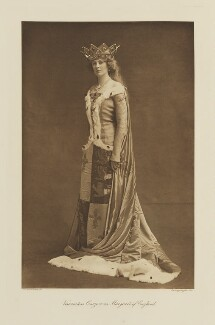 Mary Howe (née Curzon), Countess Howe as Margaret of England, by Langfier Ltd, published by  Hudson & Kearns Ltd - NPG Ax135792