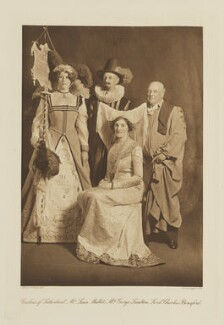 Group in fancy dress for the Shakespeare Memorial National Theatre Ball, by Langfier Ltd, published by  Hudson & Kearns Ltd - NPG Ax135794