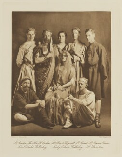 Group in fancy dress for the Shakespeare Memorial National Theatre Ball, by Langfier Ltd, published by  Hudson & Kearns Ltd - NPG Ax135796