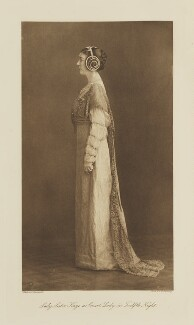 Lady Beatrice Adeline Lister-Kaye (née Pelham-Clinton) as Court Lady in 'Twelfth Night', by W. & D. Downey, published by  Hudson & Kearns Ltd, 20 June 1911, published 1912 - NPG  - © National Portrait Gallery, London