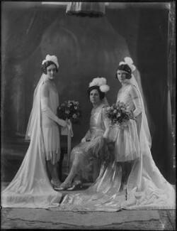 Bessie Smith (née Stanley), Lady Prescott; Bernice Louise Gray (née Prescott); Grace Geraldine Prescott, by Bassano Ltd - NPG x158613