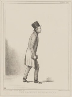 The Rejected of Kilmarnock (Sir John Bowring), by John ('HB') Doyle, printed by  Alfred Ducôte, published by  Thomas McLean - NPG D41430