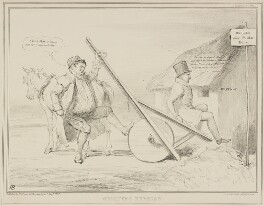 Shooting Rubbish (Daniel O'Connell; Joseph Hume), by John ('HB') Doyle, printed by  Alfred Ducôte, published by  Thomas McLean - NPG D41435