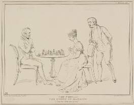 A Game at Chess (Again): The Queen in Danger, by John ('HB') Doyle, printed by  Alfred Ducôte, published by  Thomas McLean - NPG D41437