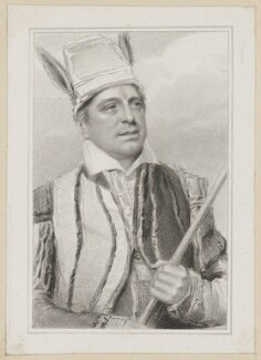 John Fawcett as Touchstone in 'As You Like It', by Thomas Woolnoth, after  Thomas Charles Wageman, published by  Simpkin and Marshall - NPG D38682