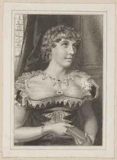 Margaret Agnes Bunn (née Somerville) as Alicia in Rowe's 'Jane Shore', by Thomas Woolnoth, after  Thomas Charles Wageman, published by  Simpkin, Marshall & Chapel - NPG D38684
