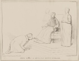 Pope Joan - A Devotee doing Homage, by John ('HB') Doyle, printed by  Alfred Ducôte, published by  Thomas McLean - NPG D41442