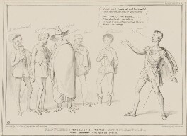 Jaffiers Introduction to the Conspirators, by John ('HB') Doyle, printed by  Alfred Ducôte, published by  Thomas McLean - NPG D41446