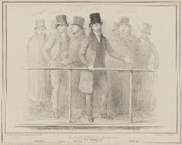 A Canadian Group (Edmund Bailey O'Callaghan; Louis-Joseph Papineau; Denis-Benjamin Viger; Wolfred Nelson; Mr Montfeiraud), by John ('HB') Doyle, printed by  Alfred Ducôte, published by  Thomas McLean, published 26 January 1838 - NPG D41448 - © National Portrait Gallery, London