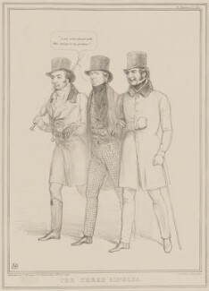 The Three Singles, by John ('HB') Doyle, printed by  Alfred Ducôte, published by  Thomas McLean - NPG D41452